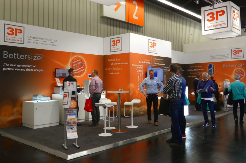 The 3P booth at Powtech 2019