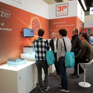 Live measurements with the Bettersizer S3 Plus at the Powtech 2019
