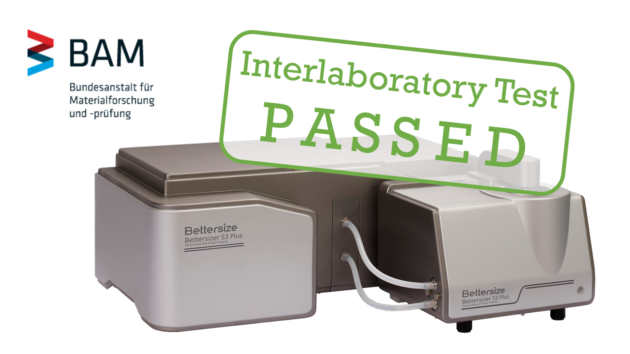 Bettersizer S3 Plus passed BAM Interlaboratory Test