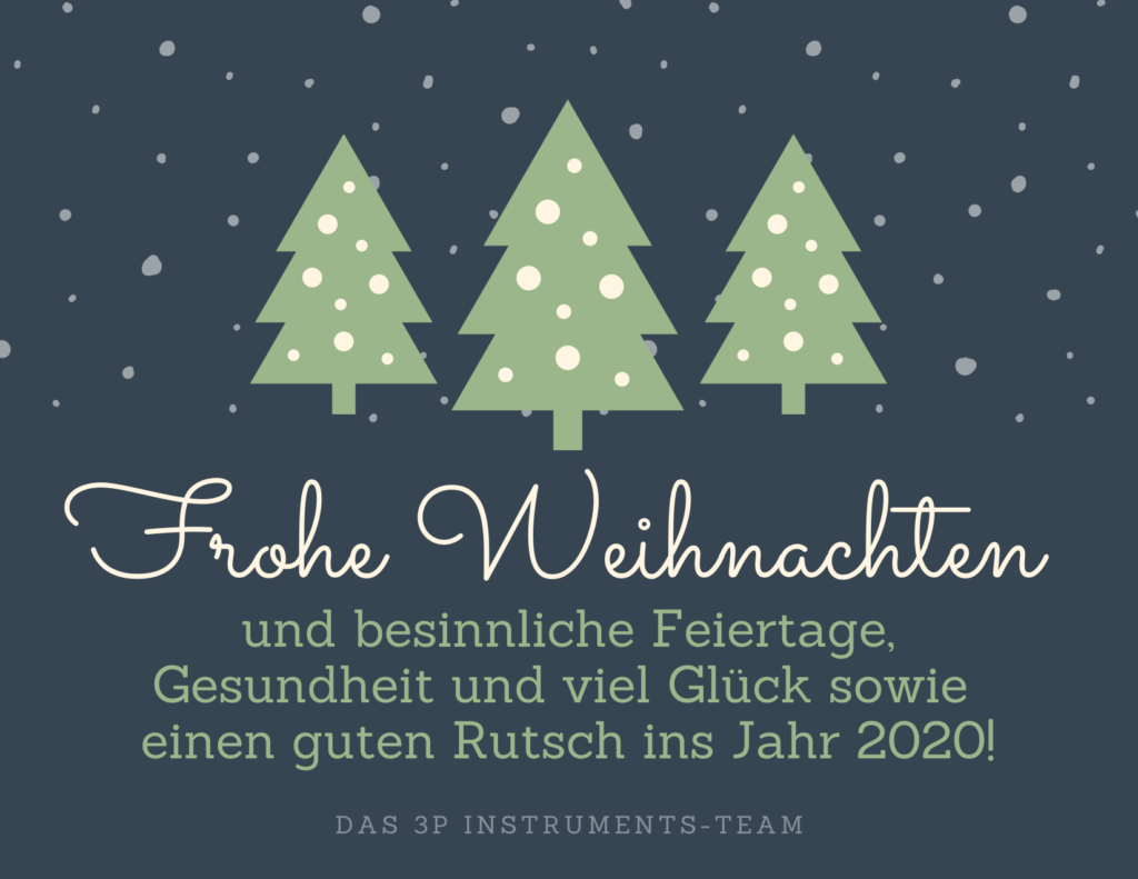 3P Instruments wünscht Frohe Weihnachten 2019!