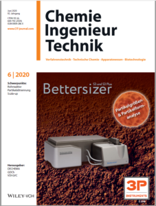 "Title page of ""Chemie Ingenieur Technik"": Investigation of the properties of sands for concrete production"