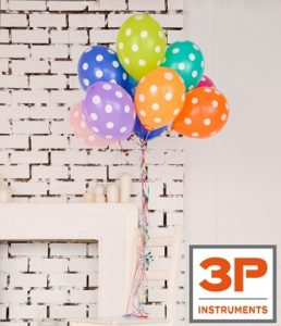 Balloons for the 30th birthday of 3P Instruments